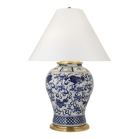 Foo Dog Large Table   Blue U0026 White   Table Lamps   Lighting   Products    Ralph Lauren Home   RalphLaurenHome.com