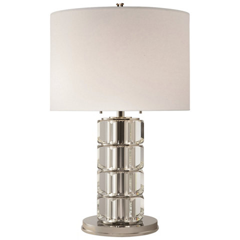 Brookings Large Table Lamp In Crystal And Polished Nickel   Table Lamps    Lighting   Products   Ralph Lauren Home   RalphLaurenHome.com