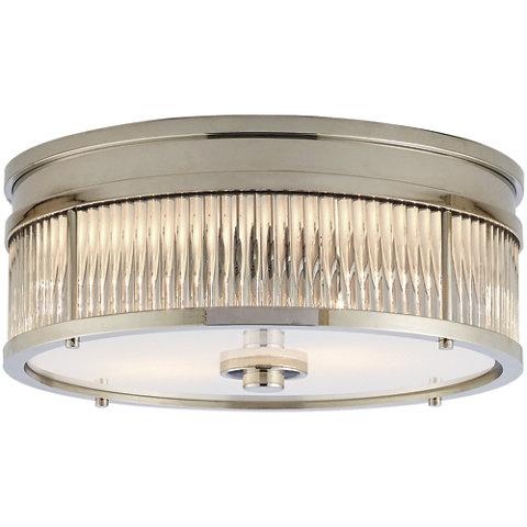 Allen Round Low Profile Flush Mount In Polished Nickel Ceiling Fixtures Lighting Products Ralph Lauren Home Ralphlaurenhome