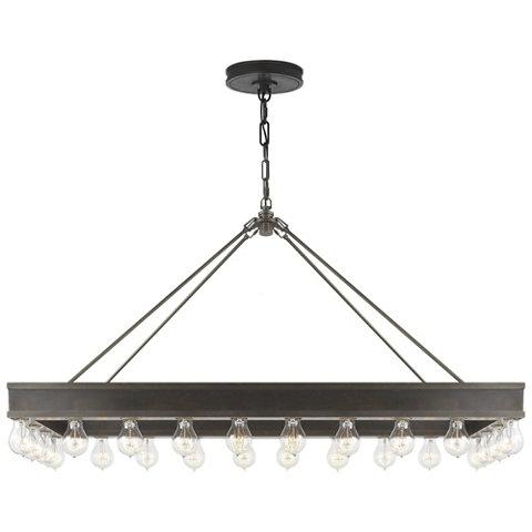 Roark Rectangular Pendant In Aged Iron Ceiling Fixtures Lighting Products Ralph Lauren Home Ralphlaurenhome