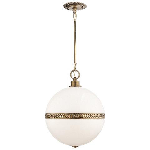 Hendricks large globe pendant in natural brass ceiling fixtures hendricks large globe pendant in natural brass ceiling fixtures lighting products ralph lauren home ralphlaurenhome aloadofball Choice Image