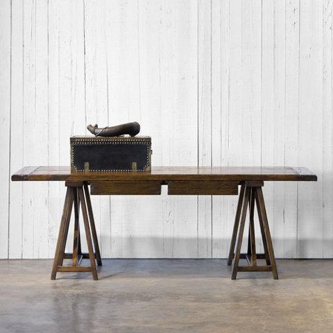 Brand new Trestle Desk - Antique Walnut Finish - Ralph Lauren Home  GJ41