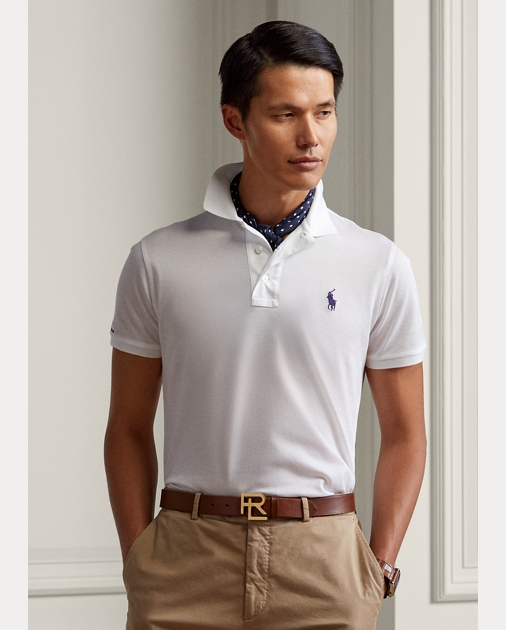 Super Custom Fit Piqué Polo Shirt | Custom Slim Polo Shirts | Ralph Lauren LC-75
