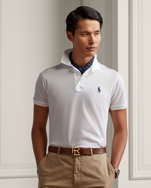 1fb61aab Custom Fit Piqué Polo Shirt   Custom Slim Polo Shirts   Ralph Lauren