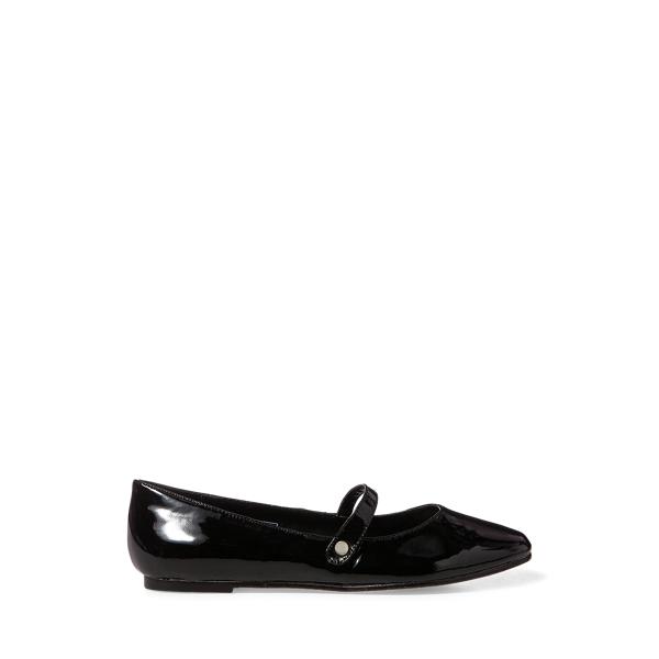 폴로 빅키즈 랄프로렌 플랫 슈즈 Polo Ralph Lauren Alyssa Leather Mary Jane,Black Patent Leather