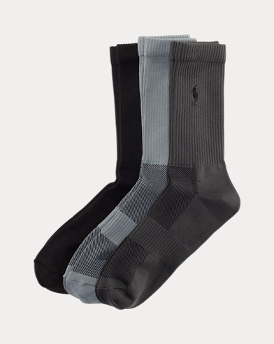 Poly Tech Crew Sock 3-Pack