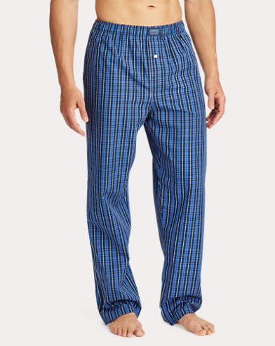 Plaid Woven Cotton Pajama Pant