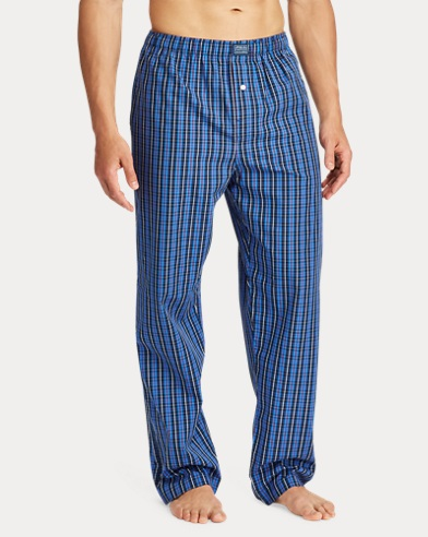 4f38a7787 Plaid Woven Cotton Pajama Pant