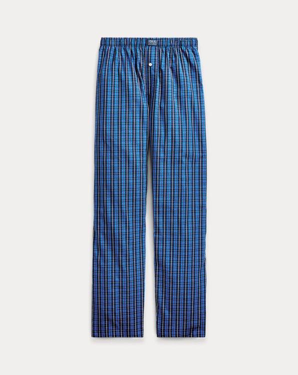 Plaid Woven Cotton Pajama Pant