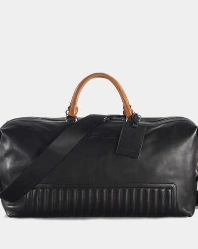 Quilted Leather Duffel Bag