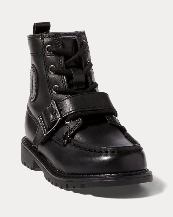 Polo by Ralph Lauren Holden Kids Boots Brown /& Black Gradeschool//Juniors