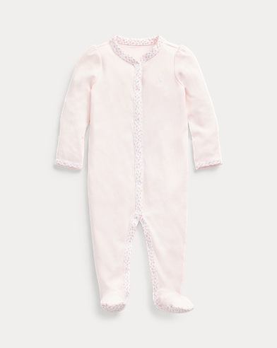 Floral-Trim Coverall