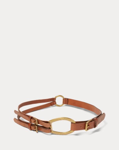 Tri-Strap Leather Belt