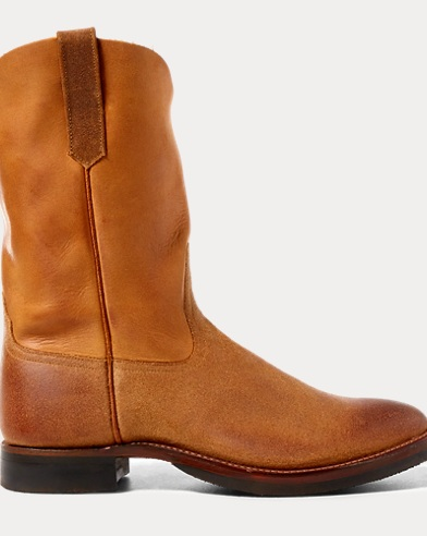 Leather Roper Boot