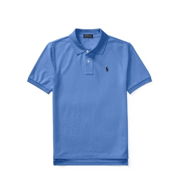 Ralph Lauren Cotton Mesh Polo Shirt Blue S