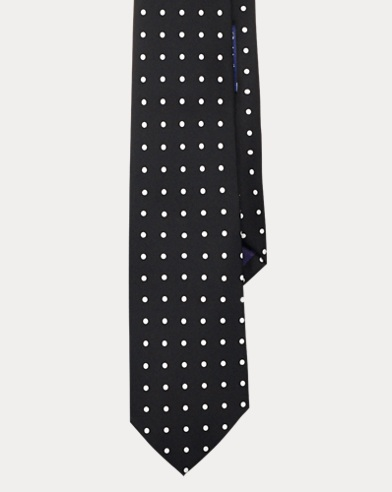 Polka-Dot Silk Satin Tie