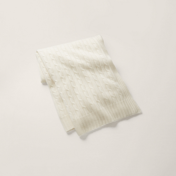 Home Cable Cashmere Throw Blanket Ralph Lauren