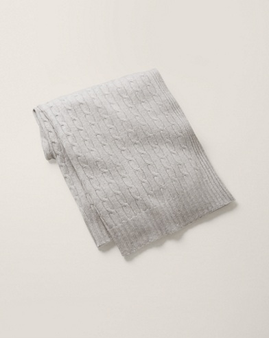 Cable Cashmere Throw Blanket