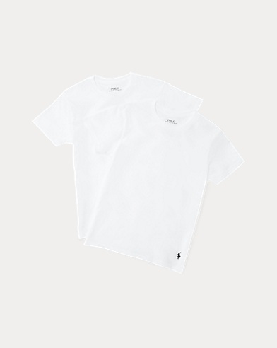 White Cotton Crewneck 2-Pack