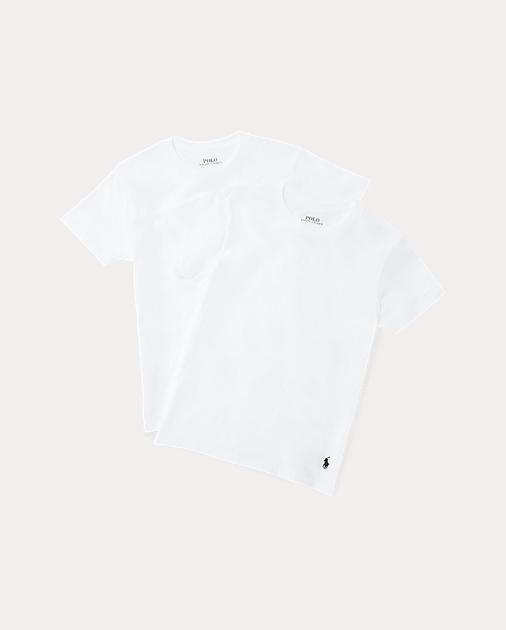 White Cotton Crewneck 2 Pack by Ralph Lauren