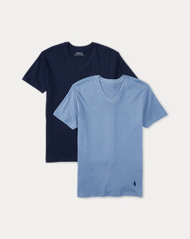 Solid Cotton V-Neck 2-Pack