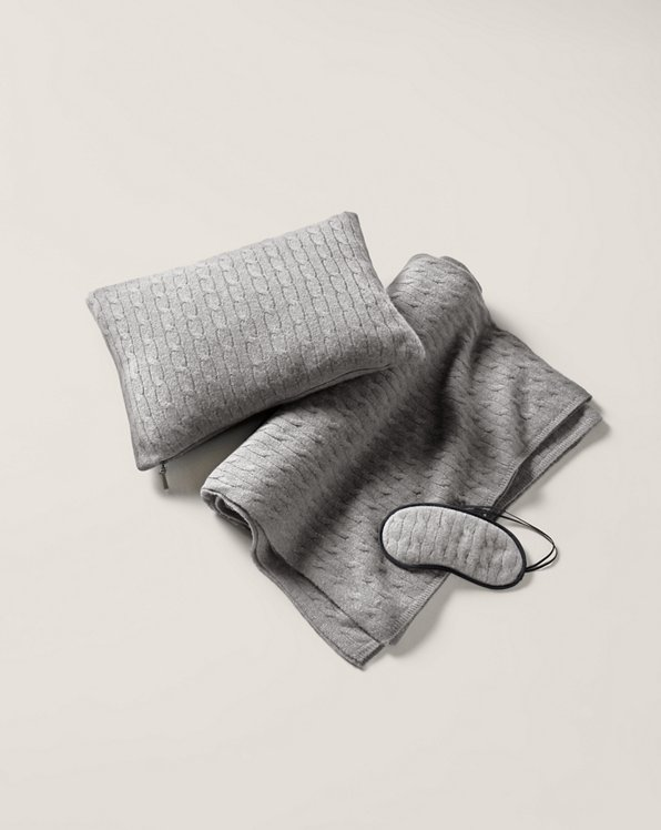 Cable-Knit Cashmere Travel Set