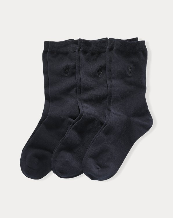 Flat Knit Crew Sock 3-Pack