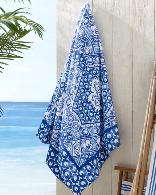 Textured Mosaic Beach Towel Beach Towels Bath Ralph Lauren