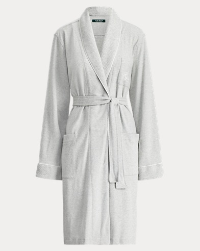 f049b63631 Short Shawl-Collar Robe