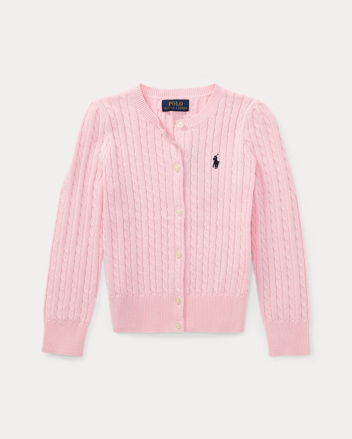 Cable Knit Cotton Cardigan Sweaters Girls 2 6x Ralph Lauren