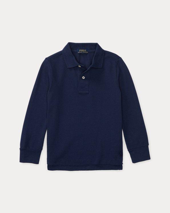 Cotton Mesh Uniform Polo Shirt
