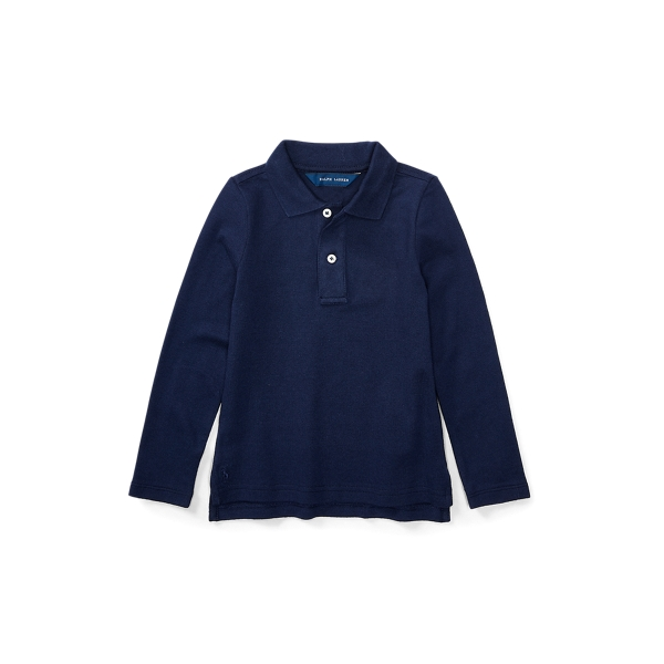 폴로 랄프로렌 여아용 폴로셔츠 Polo Ralph Lauren Long Sleeve Uniform Polo,Newport Navy
