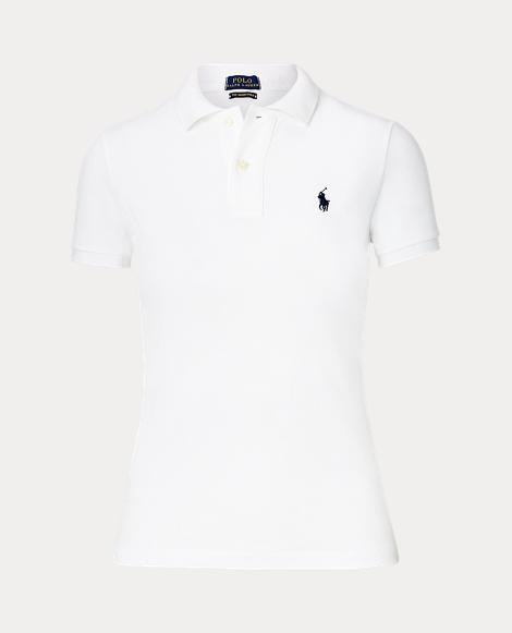 Skinny Fit Mesh Polo Shirt