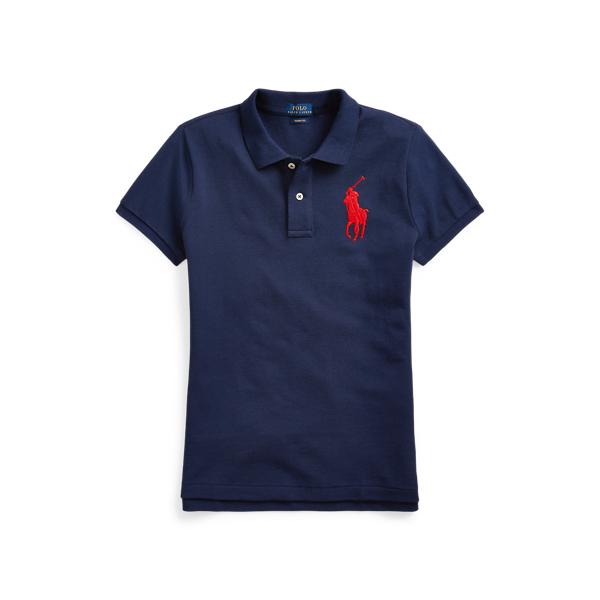폴로 랄프로렌 Polo Ralph Lauren Skinny Fit Big Pony Polo Shirt,Newport Navy