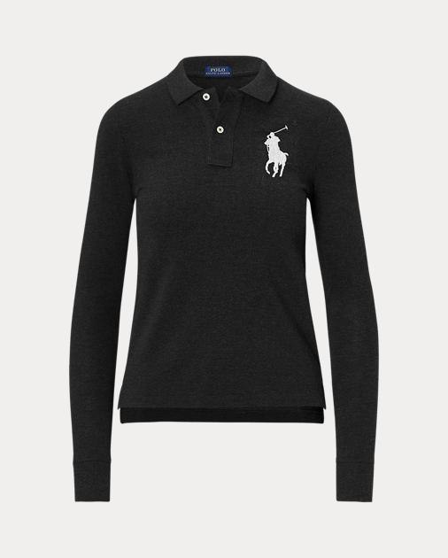 Skinny Fit Big Pony Polo Polo Shirts Women Ralph Lauren