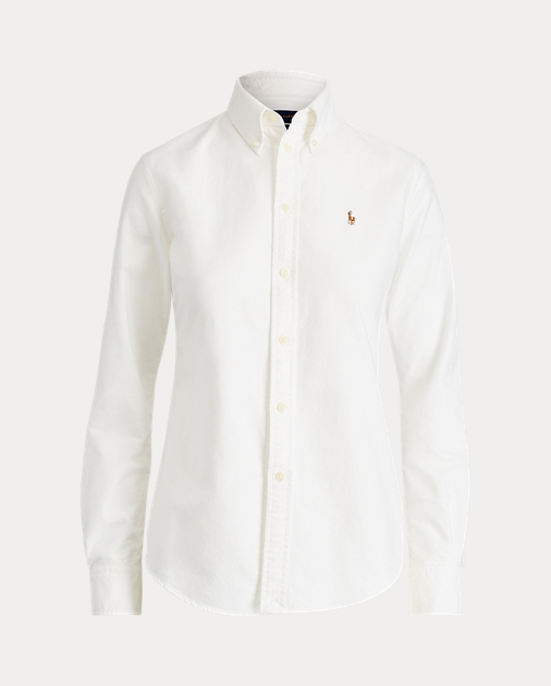 Custom Fit Cotton Oxford Shirt