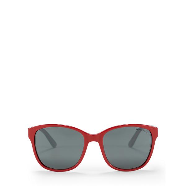Ralph Lauren Classic Square Sunglasses Red One Size
