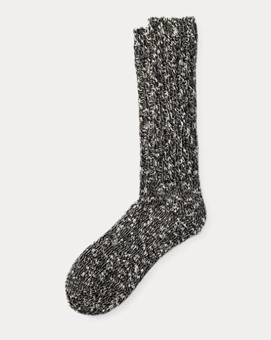 Cotton-Blend Ragg Crew Socks