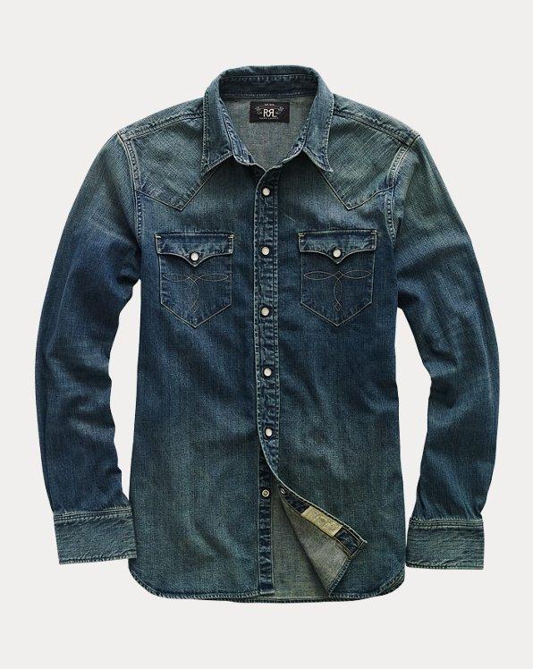 Indigo Buffalo Western Shirt