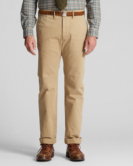 966dc8018c7e1 Officer's Flat Front Chino | Chinos Pants & Chinos | Ralph Lauren