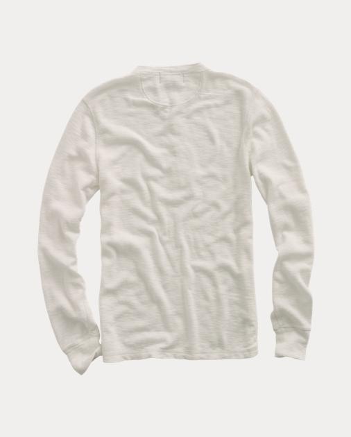 d6670ecceac RRL T-shirt à col tunisien en coton 2