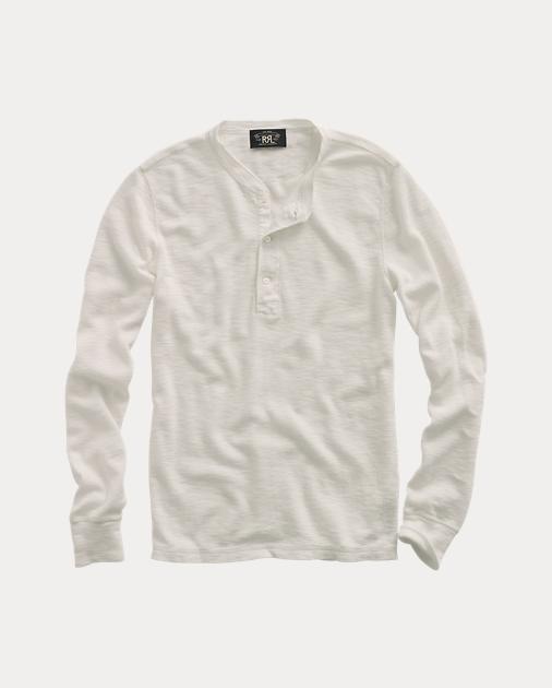 28f9658e45f RRL T-shirt à col tunisien en coton 1