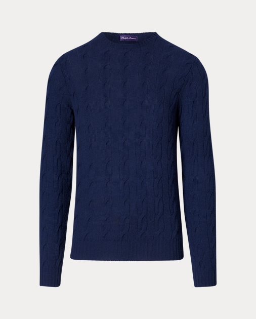 baeaa84f Cable-Knit Cashmere Sweater | Crewneck Sweaters | Ralph Lauren