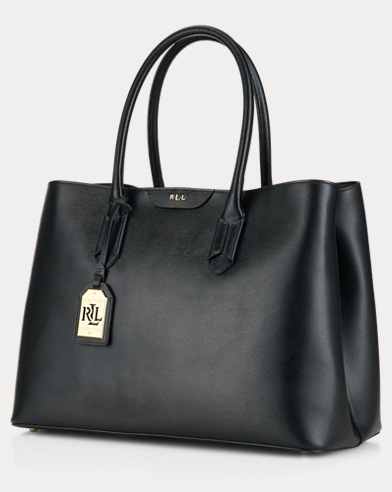 Leather Tate City Tote