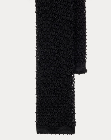 Cravate tricotée en soie classique