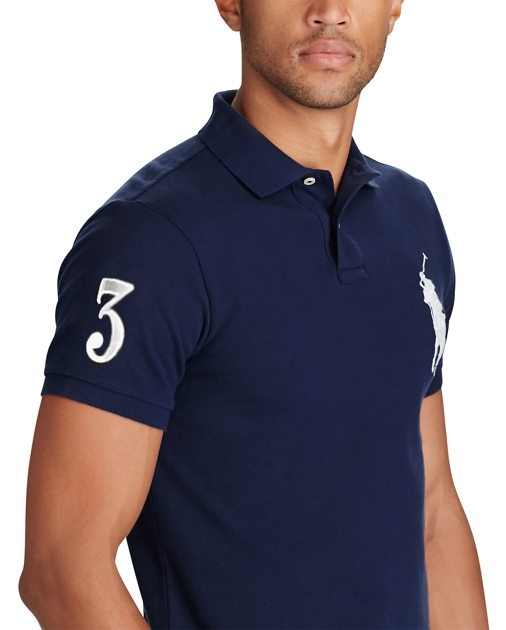 Slim Fit Big Pony Polo Shirt Ralph Lauren De