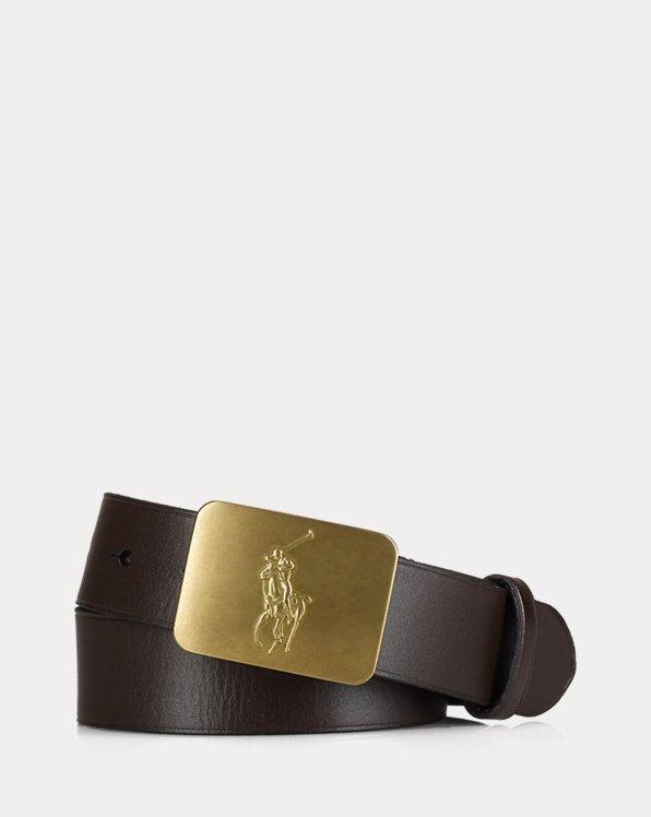 Big Pony-Buckle Leather Belt