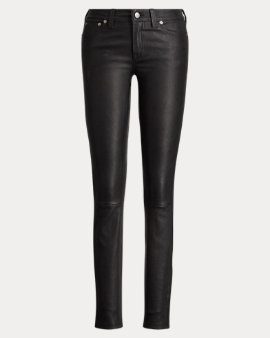 Stretch-Leather 5-Pocket Pant