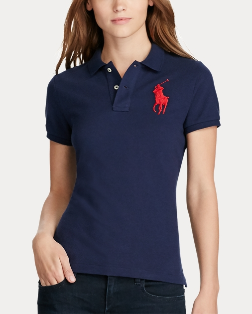 best authentic 3de80 cfb10 Skinny Fit Big Pony Polo Shirt