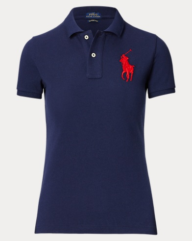 Polo con caballo grande Skinny Fit